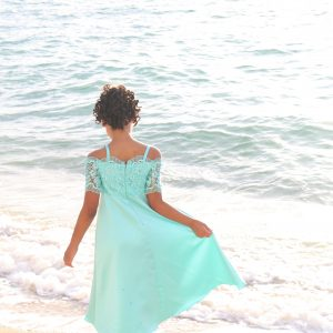 beach wedding girl dress
