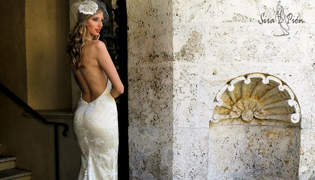 Backless White Gown